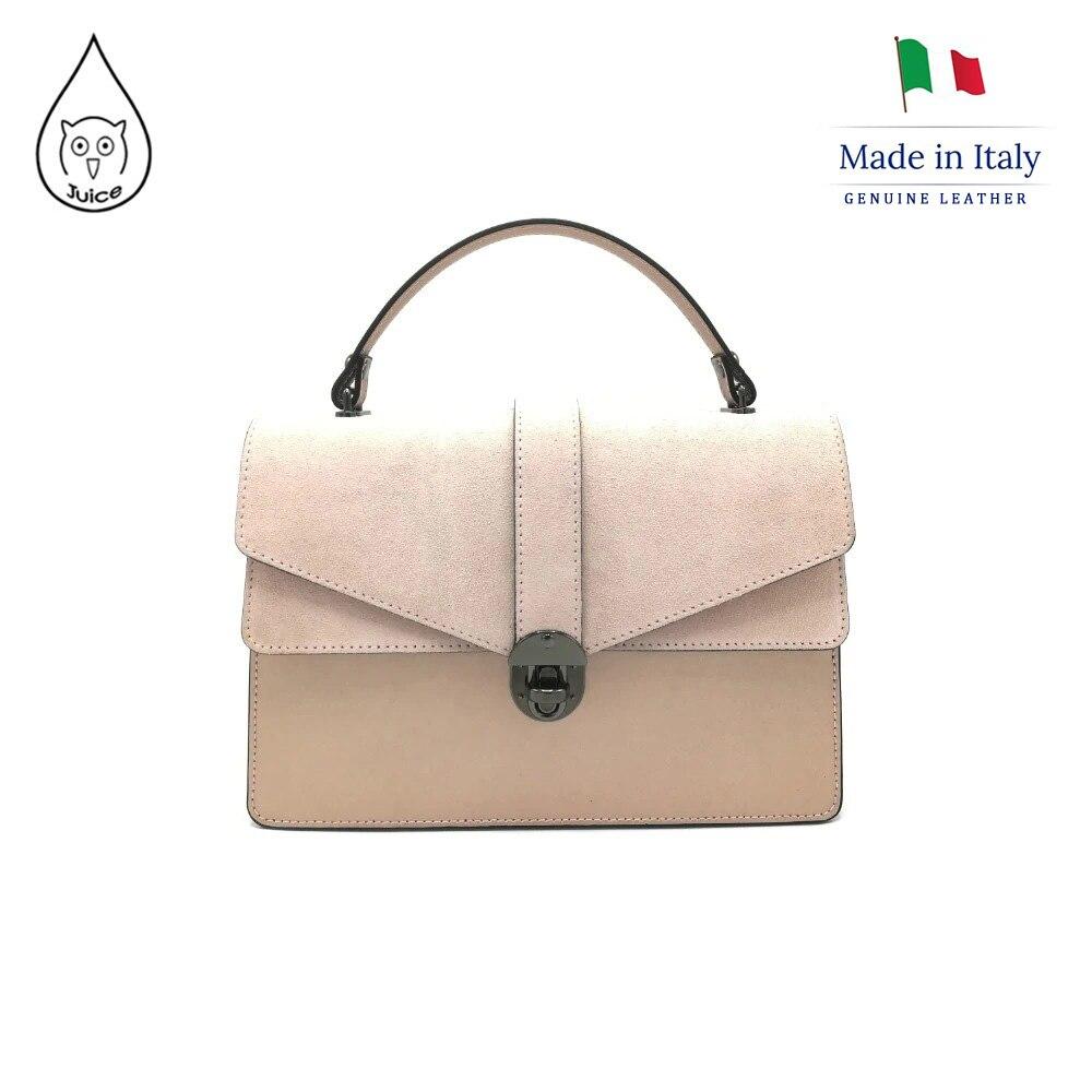 JUICE Brand, Genuine Leather Bag Made In Italy, Shoulder Handbag 081.412