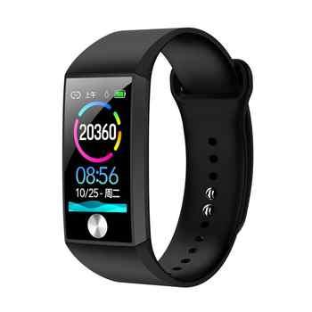 Pulsera inteligente S28 pantalla de Color de 1,14 pulgadas PPG + ECG Frecuencia Cardíaca presión arterial oxígeno monitoreo IP67 deporte a prueba de agua pulsera