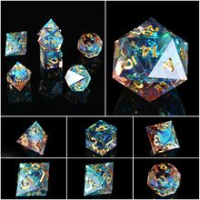 RPG Dice Set, DND 7PCS Handmade Mirror Polyhedral Dice Set for D&D Dungeons and Dragons Table Games Role Playing Rolling