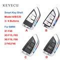 Keyecu Keyless смарт-пульт дистанционного ключа чехол для BMW X1 F48  X5 F15 F85  X6 F16 F86  2 F45 F46 (только внешняя оболочка)