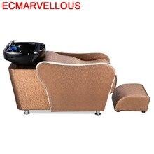 Кровать Парикмахерская для парикмахерской Lavacabezas Красота Волосы мебель Cadeira Maquiagem Silla Peluqueria салон шампунь стул