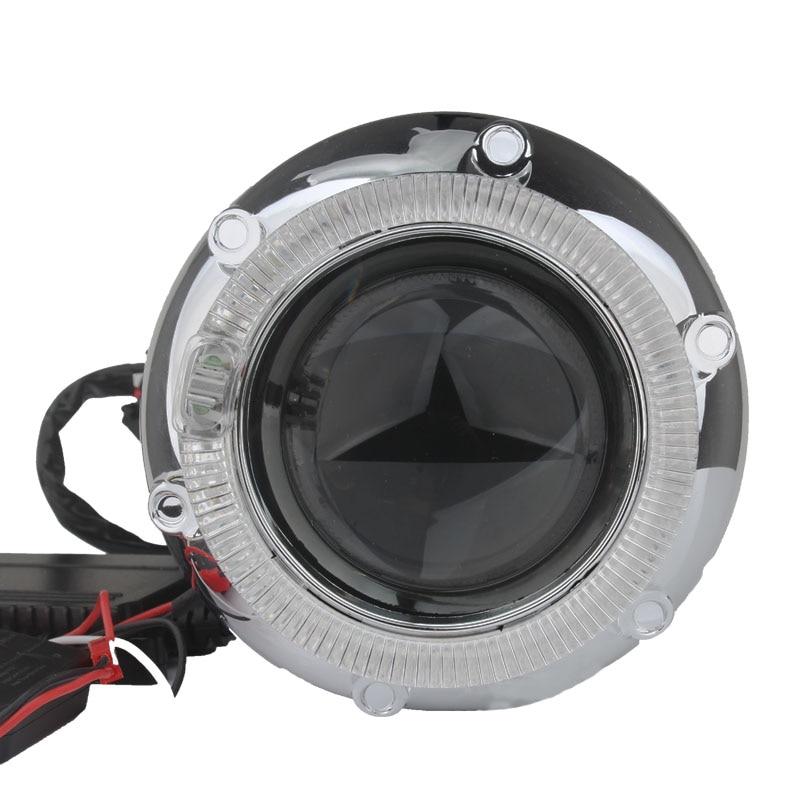 LED lumières de course ange yeux HID Bi xénon projecteur lentille 2.5 pouces phares H4 H7 voiture modification phare lentille diable yeux