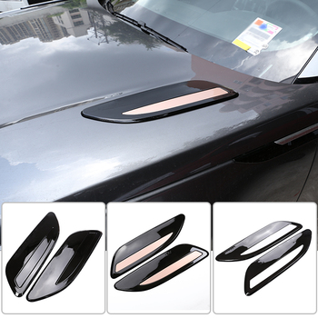 2 Pcs ABS Silver Hood Air Vent Outlet Wing Trim For Range Rover Velar 2017 2018 2019 Car Exterior Decoration Accessories 1