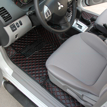 lsrtw2017 leather car interior floor mats for mitsubishi Montero Challenger pajero sport 2008 2009 2010 2011 2012 2013 2014 2015 car seat cover covers for mitsubishi pajero 2 3 4 full sport carisma montero sport outlander 3 xl 2013 2012 2011 2010