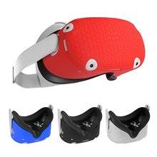 Capa protetora de silicone caso escudo para oculus quest 2 vr headset cabeça capa anti-riscos para oculus quest 2 vr acessórios