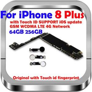 Image 1 - ICloud مجاني الأصلي آيفون 8 Plus اللوحة الأم مع معرف اللمس/بدون اللمس معرف المنطق مجلس آيفون 8 Plus MB مع رقائق
