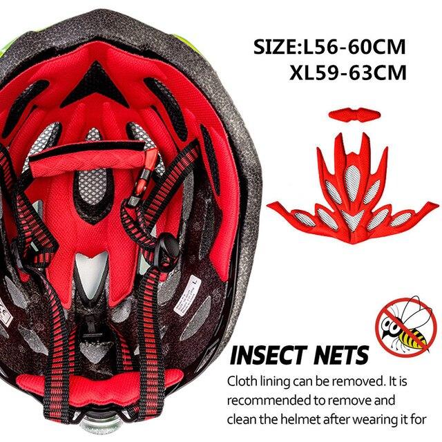 Kingbike 2019 novo design preto capacetes de bicicleta mtb mountain road ciclismo capacete da bicicleta casco ciclismo tamanho L-XL 6