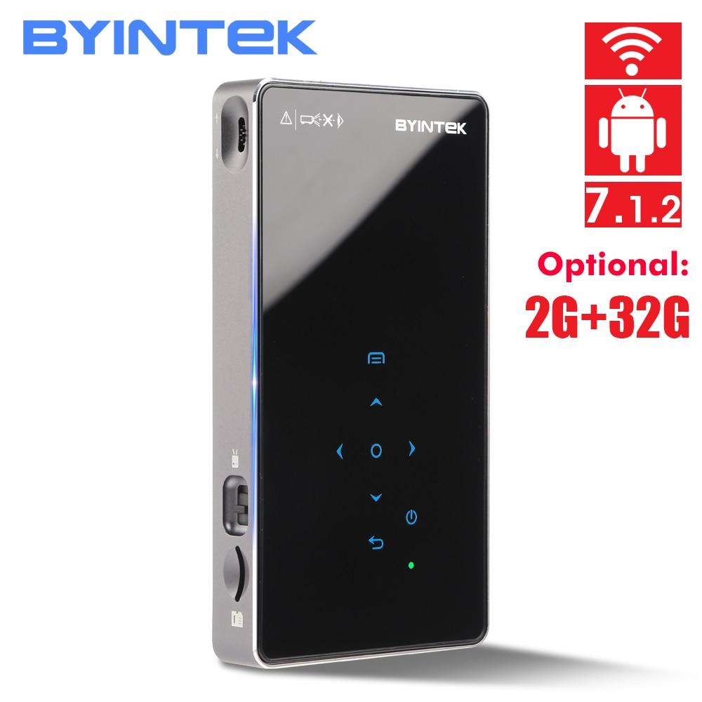 BYINTEK UFO P9 P8I Android 7 1 OS Pico Pocket HD Portable Micro WIFI Bluetooth Mini