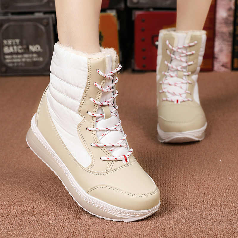 Dropshipping Winter Boots Women Winter Female Shoes Mid-Calf Boots Women Warm Ladies Snow Bootie Waterproof Plush Botas Mujer