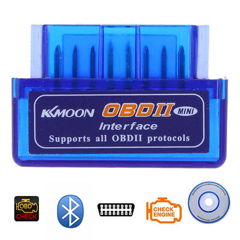 スーパーミニ Elm327 Bluetooth OBD2 V2.1 オートカー診断ツール Elm-327 OBDII プロトコルアダプタ Cd ドライバ