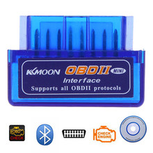 Super Mini Elm327 Bluetooth OBD2 V2.1 Auto Auto Strumento Diagnostico Scanner Elm-327 Protocollo Obdii Adattatore Cd Driver(China)