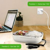 Us Plug Portable Electric Lunch Box   Car Use 12V Home Use 110V Electric Heating Food Heater  Bento Meal Warmer Lunch Warmer B|Lunch Boxes|Home & Garden -