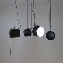 黒、白照明器具ダイニングルーム工業レストランバーデコホームハンギングランプサスペンション光沢