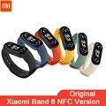 Смарт-браслет Xiaomi Mi Band 6 версия NFC смарт-браслет Miband 6 с AMOLED экраном фитнес-трекер Bluetooth браслет с пульсометром