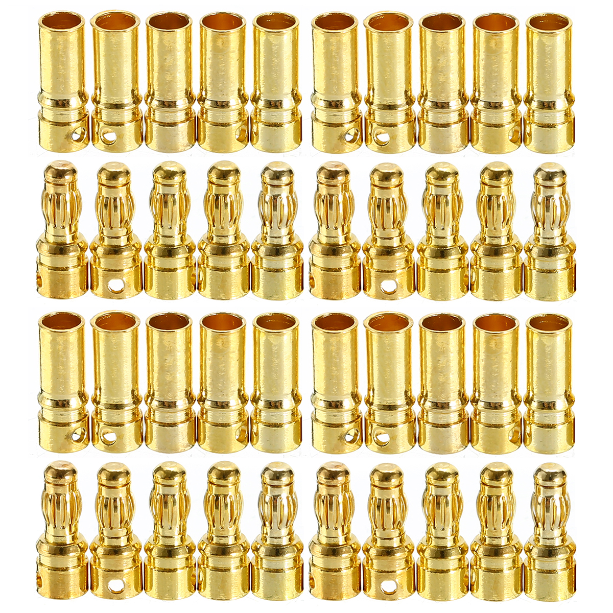 3.5mm Bullet Banana Connector Plug High Quality Brushless Motor Banana Plugs Bullet Connecter Plated For RC Battery ESC Motor
