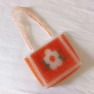 Flower Popular Bead Bag Rainbo