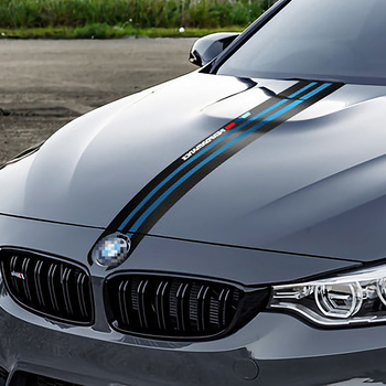Car Hood Stickers for BMW E46 E90 E60 E39 F30 F10 E36 E87 X5 E70 E91 G30 Vinyl Stripe Stylish Automobiles Tuning Car Accessories image