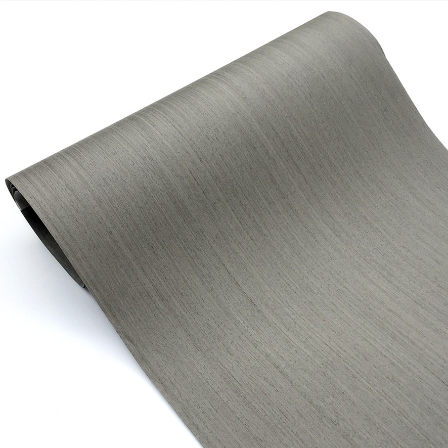 Placage artificiel placage technique bois tranché placage d'ingénierie E.V. Support en chêne gris 64x250cm avec tissu de 0.25mm d'épaisseur Q/C