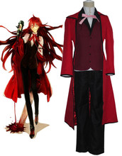 Black Butler Death Scythe Grell Sutcliff Cosplay Costume Halloween Women Dress o(China)