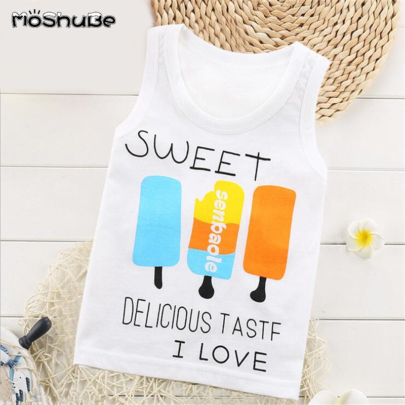 Vest Tops Sleevelss-Clothes T-Shirts Baby-Boys-Girls Children Clothing Cotton Summer
