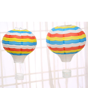 Rainbow Cloud Pattern Festival Decoration Paper Hot Air Balloon Children's Party Love Decoration Convenient Pause Party Watch image