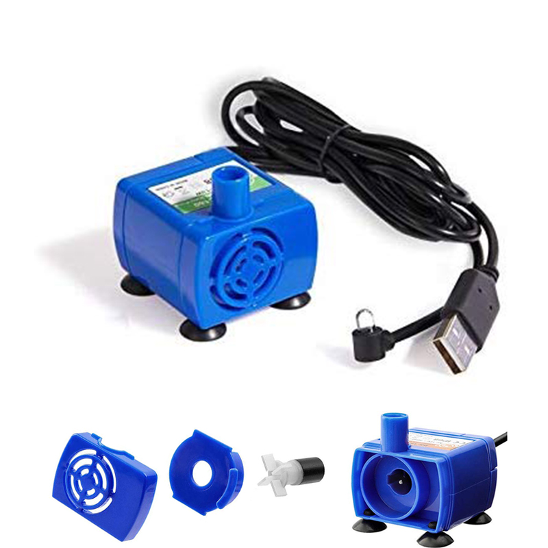 Water Pump LED Light Pet Cat Water Fountain Motor Accessories Replacement for Cat Flowers Drinking Bowl Water Dispenser