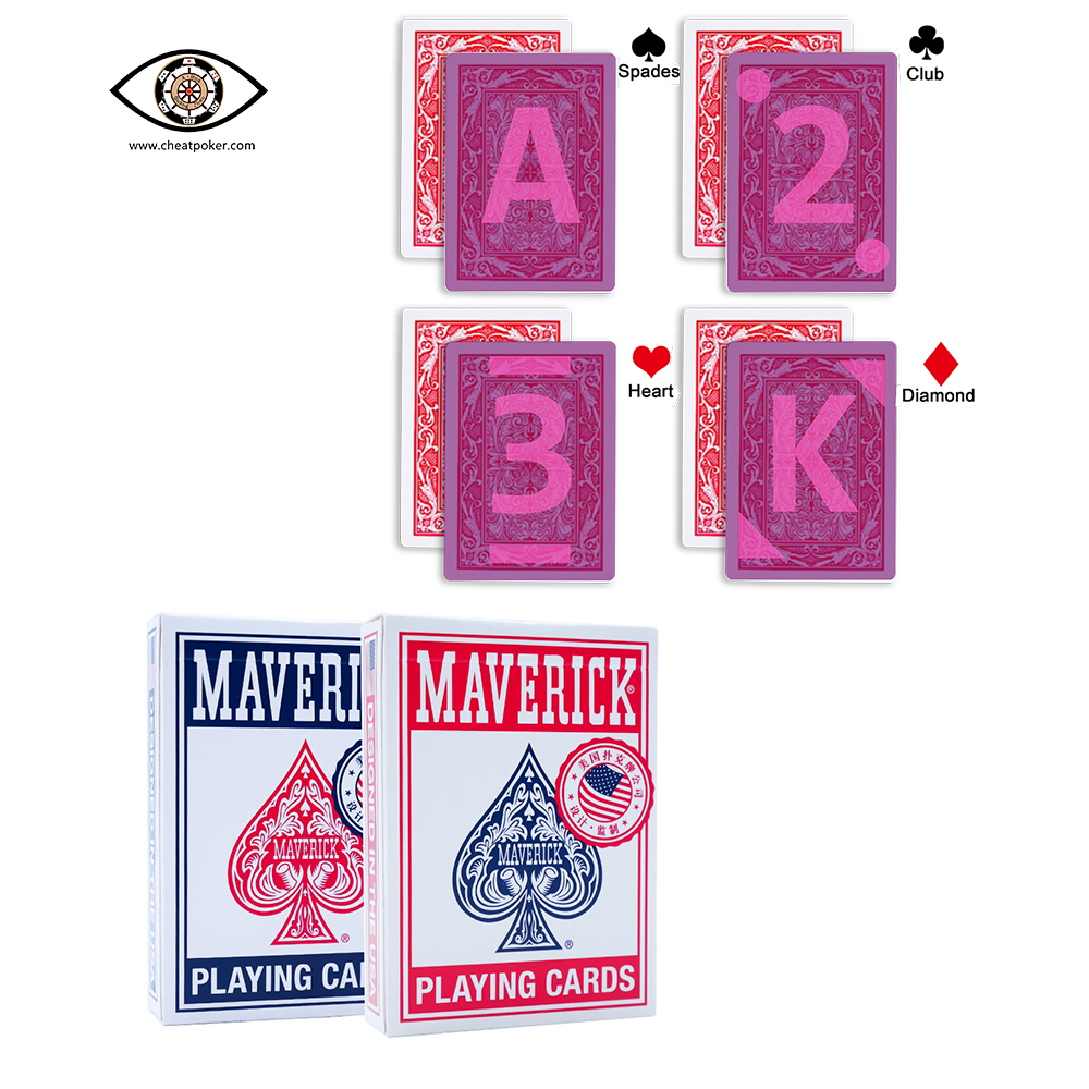 marked-cards-for-contact-lensesinvisible-infrared-marks-on-the-back-of-maverick-anti-cheat-playing-cardsmagic-tag-font-b-poker-b-font