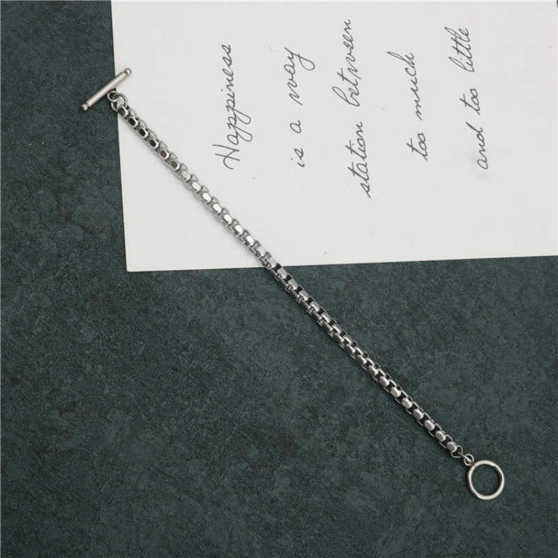 Bransoleta ze stali nierdzewnej 4mm łańcuch mężczyźni i kobiety para bransoletka OTBuckle styl bransoletka damska męska bransoletka biżuteria prezent 2019