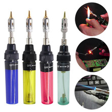 Cheap 1300 Celsius Butane Gas Welding Soldering Irons Welding Pen Burner Blow Torch Gas Soldering Iron Cordless Butane Tip Tools 1300 degree gas blow torch soldering solder iron cordless butane tip tool welding pen burner 8ml welding soldering kit