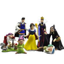8pcs/sets Disney Prince Snow White And Dwarfs Witch Doll Birthday Cake Baking Desk Decoration Statue Action Figure Toy M5098(China)