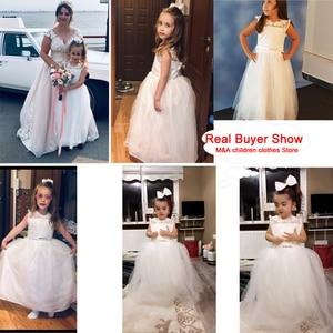 Image 2 - 2020 فستان حفلات بناتي أنيق أبيض وصيفة العروس فستان الأميرة للأطفال فساتين للبنات ملابس الأطفال فستان الزفاف 10 12 سنة