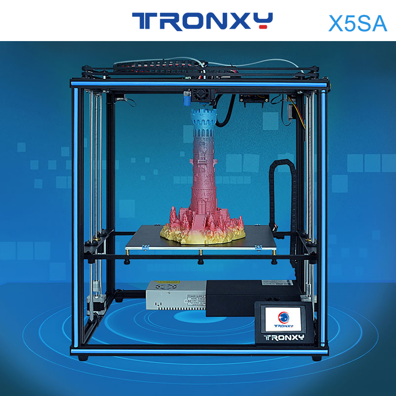 2019 Tronxy X5SA 24V nouvelle imprimante 3D améliorée bricolage Kits plaque de construction en métal 3.5 pouces LCD écran tactile haute précision nivellement automatique