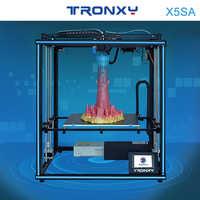 2019 Tronxy X5SA 24V nuevo actualizado 3D impresora DIY Kits Metal Build Plate 3,5 pulgadas LCD pantalla táctil de alta precisión Auto nivelación