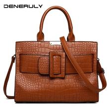 2019 Luxury Handbags Women Bags Crocodile Leather For Designer Brand Famous Ladies Hand Vintage Tote Female