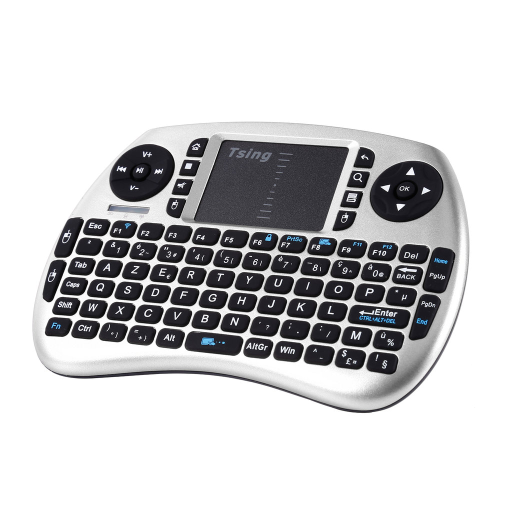 Portable Handheld Wireless Keyboard Touchpad Multi-media For TV Box Media TV PC Stick Laptop For Raspberry PI PS3 French Spanish