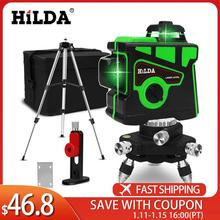 Laser-Level Tripod-Battery Vertical-Cross-Lines Horizontal Green And 3D