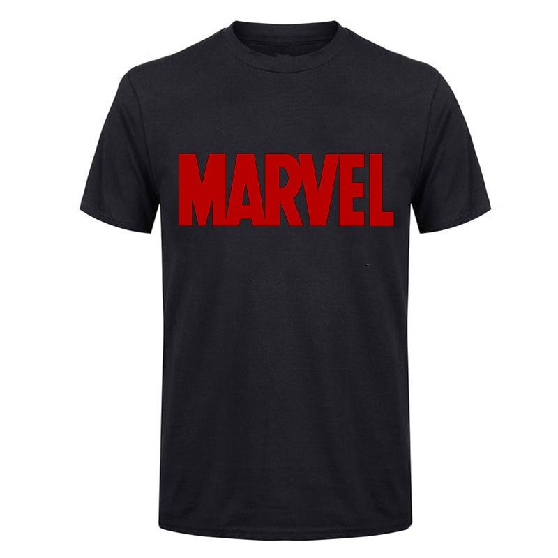 LUSLOS Marvel T Shirt Men White Tshirt Black Tops Tees Oversize Harajuku Summer Short-sleeved Shirts Men Clohtes 2019 Male Top