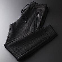 And Winter Autumn Men Luxury Solid Color Thick Male Trousers Fashion Elastic Waist Slim Fit Man Pants Plus Size 4XL
