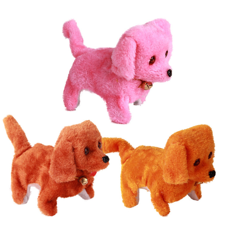 Will Go Will Call Moving Backwards Children Forward Round Steak Dog Plush Dog Electric Small Unisex Stall ≥ 14 Years Old Goods