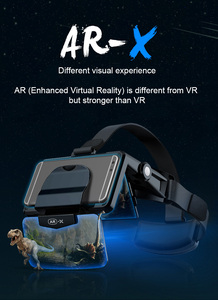 AR-X 3D VR Glasses Helmet Virtual Reality VR Glasses Headset Touch For Smartphone Cardboard Casque Smart Phone Android 3 D Lense(China)