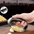Knoblauch Presse Edelstahl Fleischwolf & Brecher mit Silikon Rohr Schäler und Reinigung Pinsel Set Einfach Squeeze Einfach Sauber Sicher