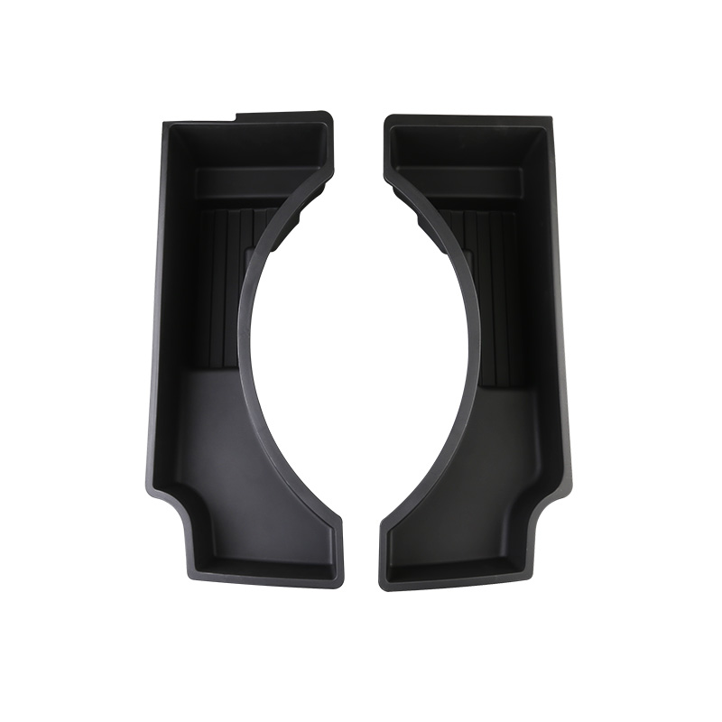 Lsrtw2017 Black Abs for <font><b>Volvo</b></font> <font><b>Xc60</b></font> 2017 2018 <font><b>2019</b></font> 2020 Trunk Spare tire Storage Box Container Holder Tray Accessories image