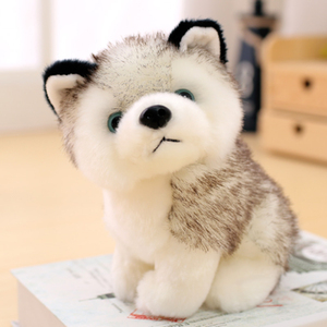 Realistic Husky Dog Stuffed Toys Plush Animals Kids Toys Children Soft Kawaii Wolf Pet Doll Cute Kids Toys for Girls Boys