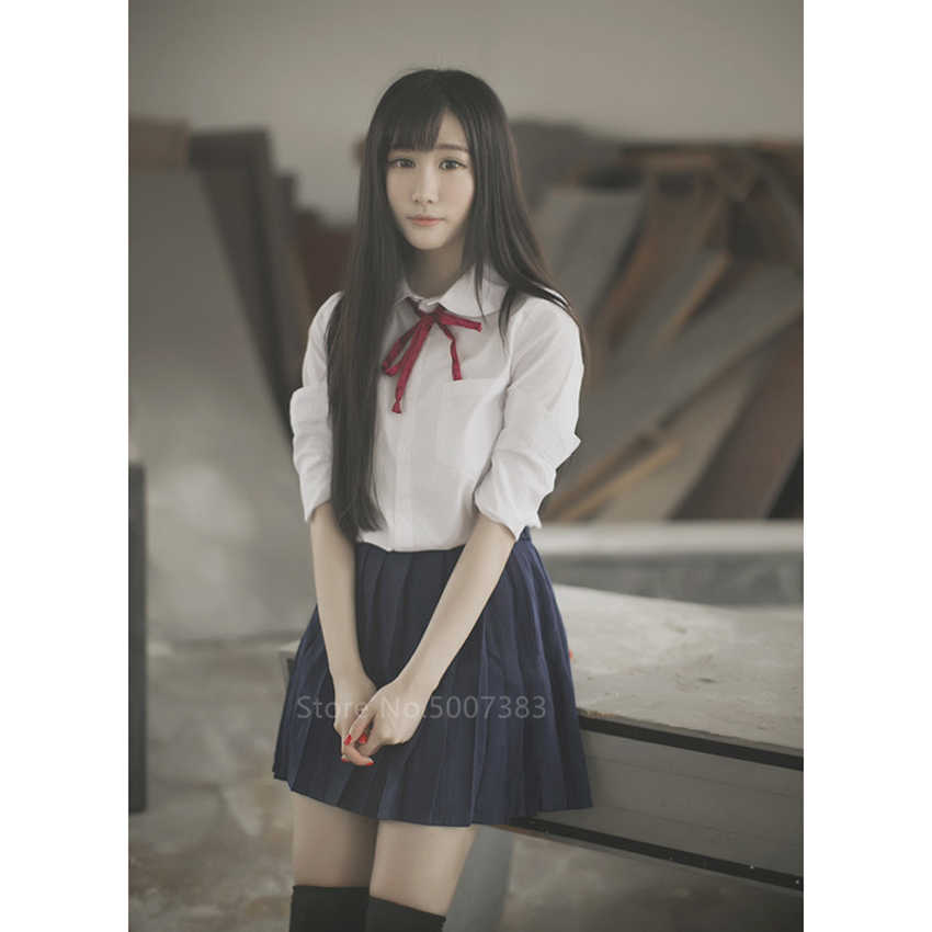 Japanischen Stil Schuluniform Koreanische College Mädchen Student JK Uniformen Sailor Bluse Kleid Set Kawaii Cosplay Frauen Rock Kostüm
