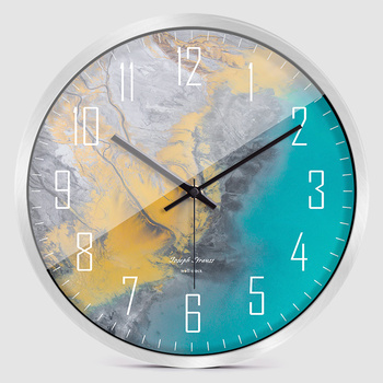 Nordic Large Modern Bedroom Wall Clock Glass Special Stylish Wall Clocks Thick Watches Wall Home Decor Novelty Watch New II50BGZ