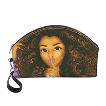 HaoYun African Girls Style Printing Pattern PU Cosmetic Cases Fashion Women Make Up Bags Zipper Portable Receive