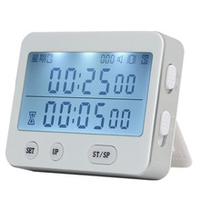 YS-255 Dual Screen Display Timer Alarm Clock Tomato Timer Silent Vibration 99 Hour Timer Digital Minute Stopwatch(China)