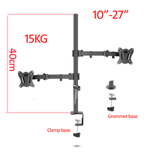 (40cm) DL-T902-240II Full Motion Dual Monitor desktop stand Holder 10