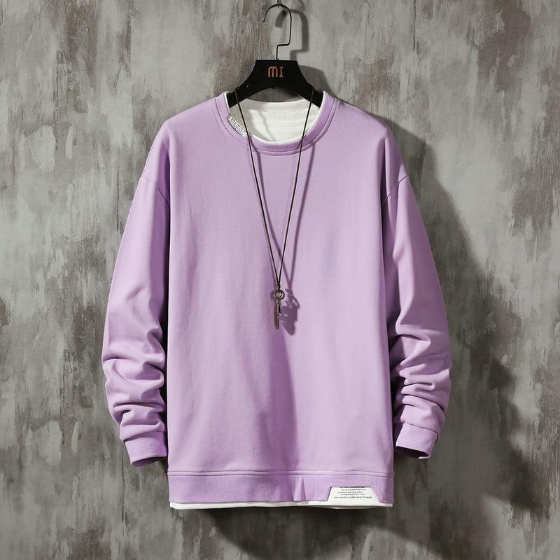 Streetwear Men Hoodies Sweatshirts Casual Solid Sweatshirt Men 2020 Spring Pullover Hoodies