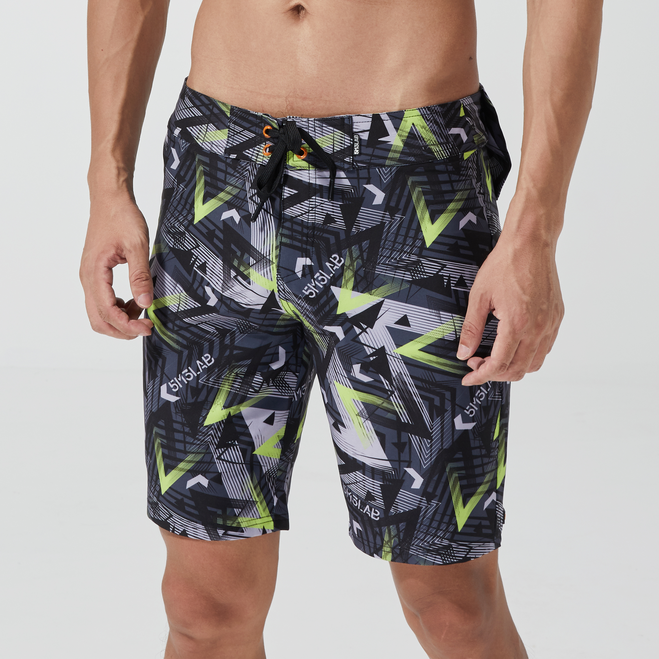 Nu-June Sfit Men Quick Dry Print Swimming Shorts For Men Swimwear Man Swimsuit Swim Trunks Summer Bathing Beach Wear Surf Boxer